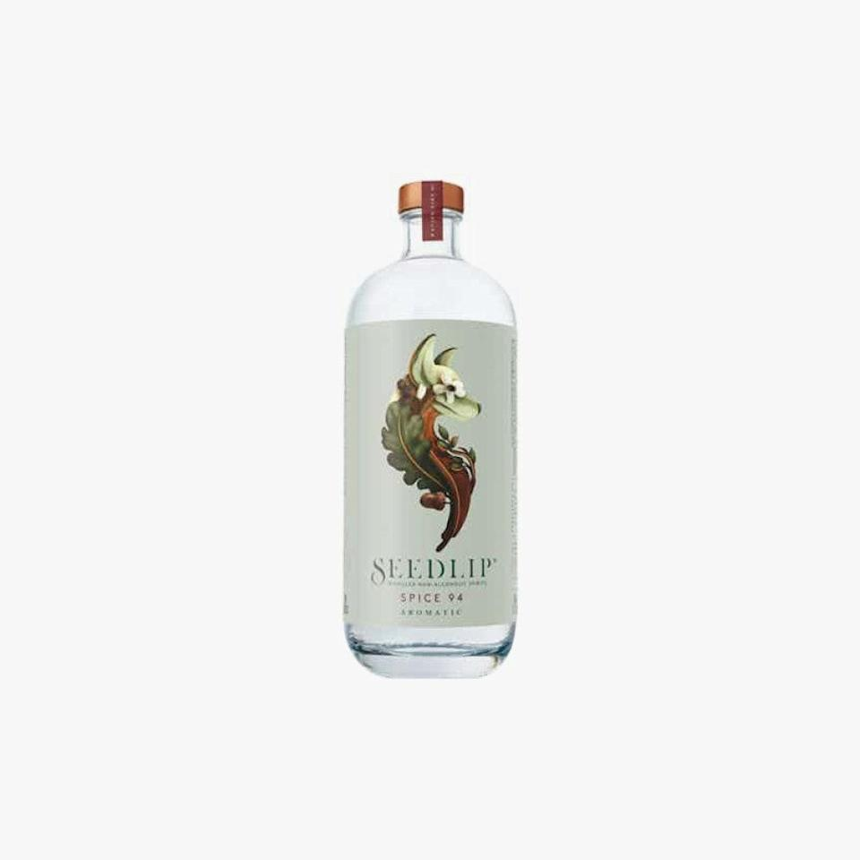 """$30, drizly.com. <a href=""""https://drizly.com/non-alcoholic-spirits/seedlip-spice-94-non-alcoholic-spirit/p96359"""" rel=""""nofollow noopener"""" target=""""_blank"""" data-ylk=""""slk:Get it now!"""" class=""""link rapid-noclick-resp"""">Get it now!</a>"""