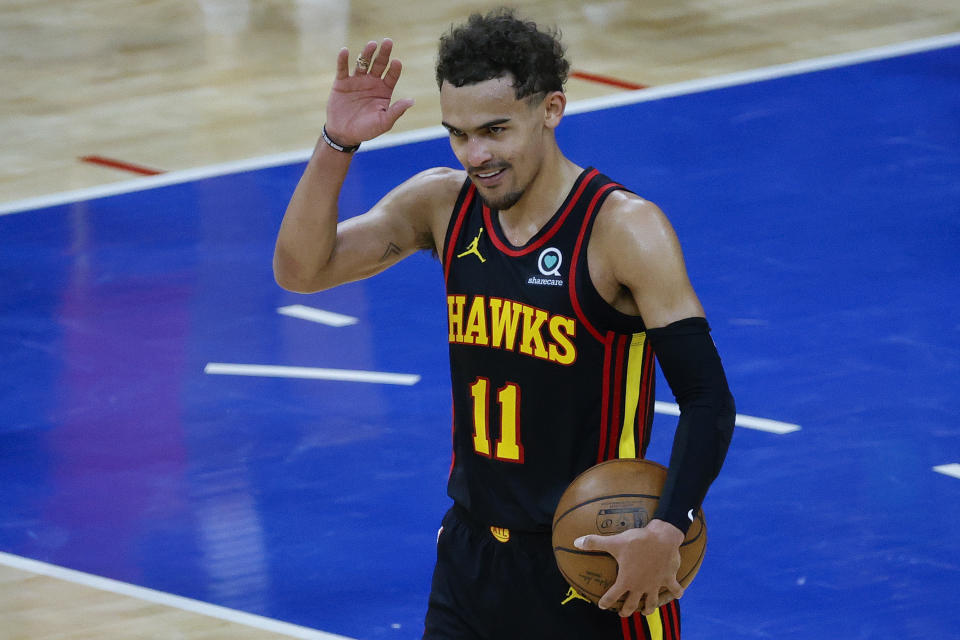Trae Young helped the Hawks past the 76ers in a seven-game series. (Photo by Tim Nwachukwu/Getty Images)