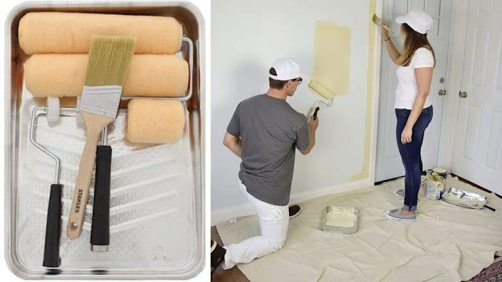 If you're planning to paint any walls, buy this kit first.
