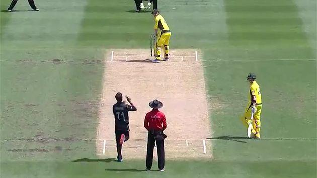 He might be the first cricketer dismissed butt before wicket'
