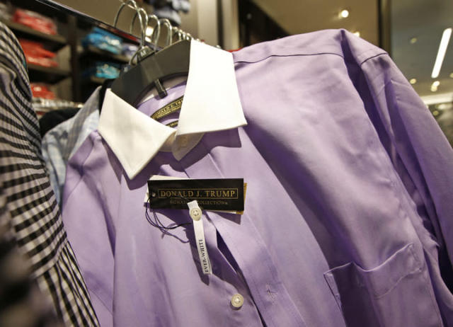 Shirts are among the products made abroad by the Trump Organization. (Photo: Kathy Willens/AP)