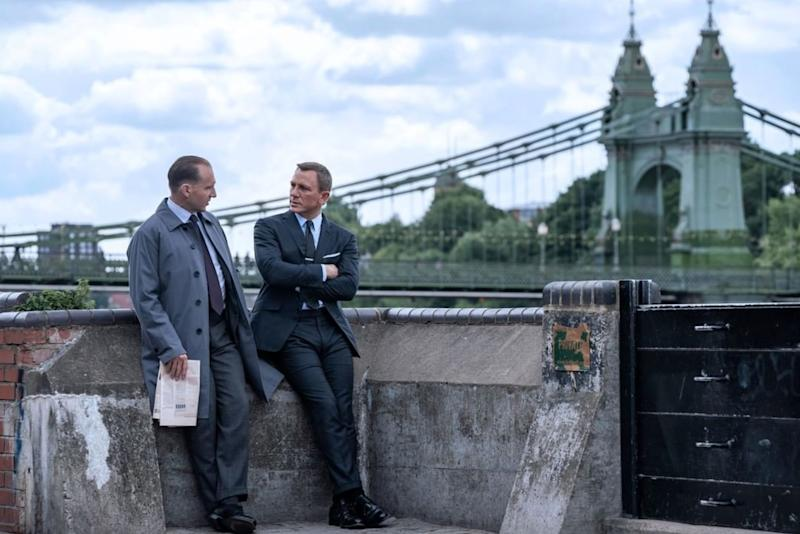 Ralph Fiennes and Daniel Craig as M and James Bond in No Time To Die. (@007/Instagram)