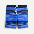 """<p>jcrew.com</p><p><strong>$75.00</strong></p><p><a href=""""https://go.redirectingat.com?id=74968X1596630&url=https%3A%2F%2Fwww.jcrew.com%2Fm%2Fmens_category%2Fswim%2Fboard_short%2F9-stretch-board-short%2FMP584%3Fcolor_name%3Dnavy-white&sref=https%3A%2F%2Fwww.menshealth.com%2Fstyle%2Fg36560974%2Fbest-board-shorts-for-men%2F"""" rel=""""nofollow noopener"""" target=""""_blank"""" data-ylk=""""slk:BUY IT HERE"""" class=""""link rapid-noclick-resp"""">BUY IT HERE</a></p><p>Graphic nautical stripes add an unexpected pattern to this classic suit that could easily pass for a cool pair of <a href=""""https://www.menshealth.com/style/g28249026/most-flattering-shorts-for-men/"""" rel=""""nofollow noopener"""" target=""""_blank"""" data-ylk=""""slk:flattering shorts"""" class=""""link rapid-noclick-resp"""">flattering shorts</a>. Wear them to run errands or for a dip in the pool on your lunch break. </p>"""