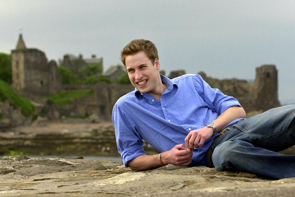 <p>Prince William on the pier at St Andrews, with the castle in the background, at the two year point int his four year History of Art degree. He later switched to geography.</p>