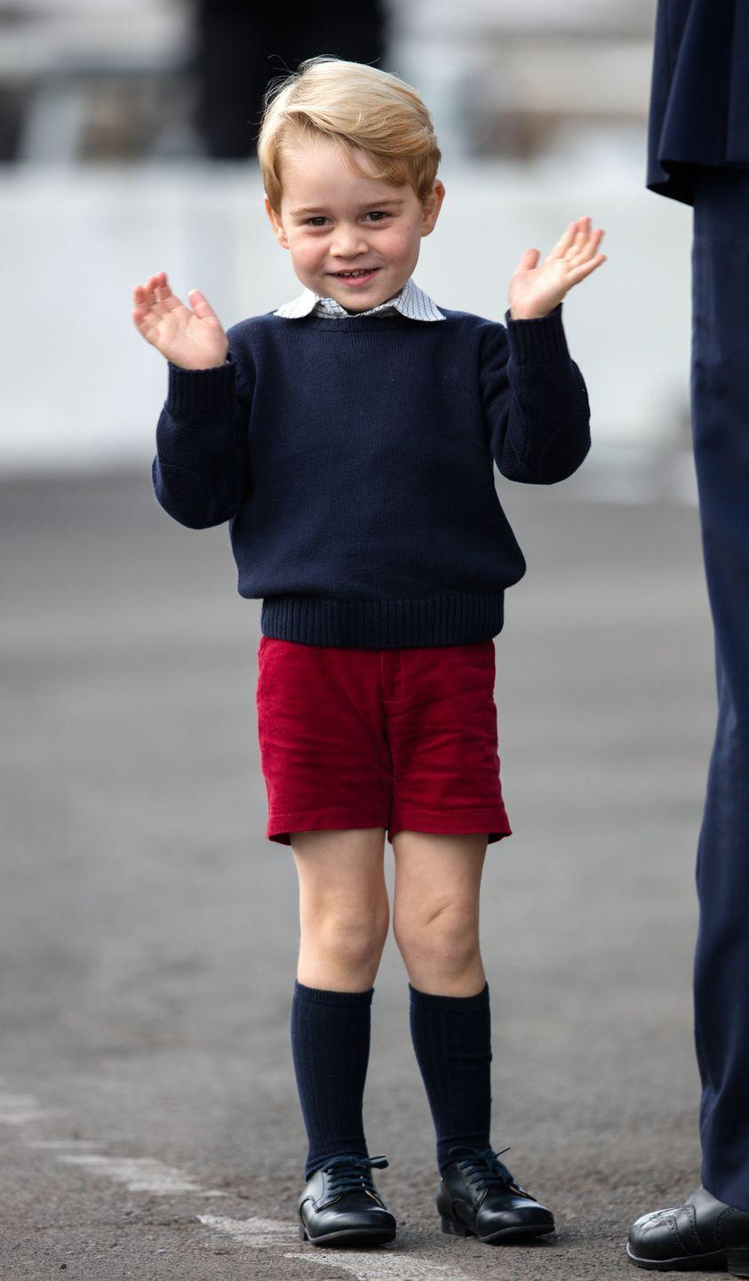 <p>The eight-year-old royal—as the firstborn to Prince William and Catherine, Duchess of Cambridge—is third in line to the British throne.</p>