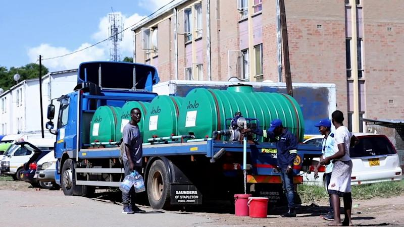 Clean City distributing water to Harare's neighbourhoods to aid hand washing