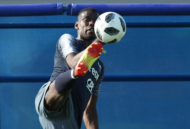 Soccer Football - World Cup - France Training - France Training Camp, Moscow, Russia - June 18, 2018 France's Paul Pogba during training REUTERS/Albert Gea