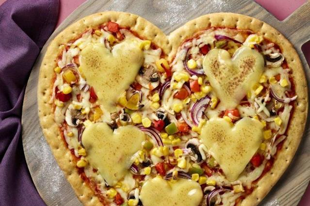The supermarket's Love Heart Pizza is back for Valentine's Day (ASDA)