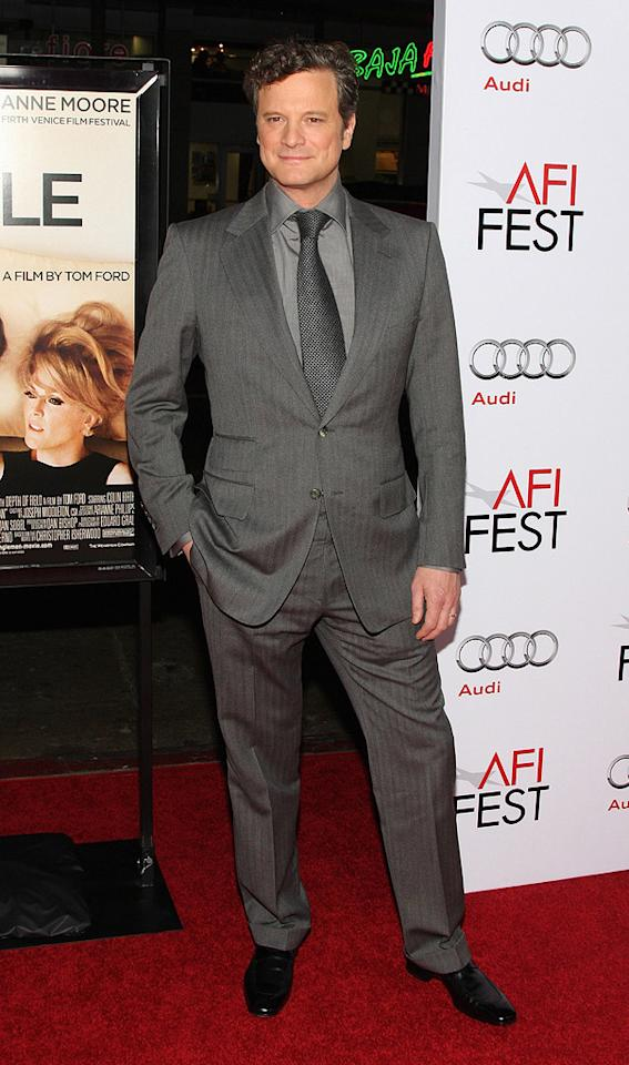 """<a href=""""http://movies.yahoo.com/movie/contributor/1800019319"""">Colin Firth</a> at the AFI Fest 2009 screening of <a href=""""http://movies.yahoo.com/movie/1810057758/info"""">A Single Man</a> - 11/05/2009"""