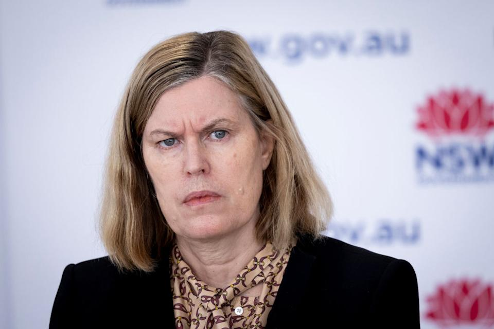Dr Kerry Chant once again warned NSW residents of the importance of getting vaccinated. Source: Getty