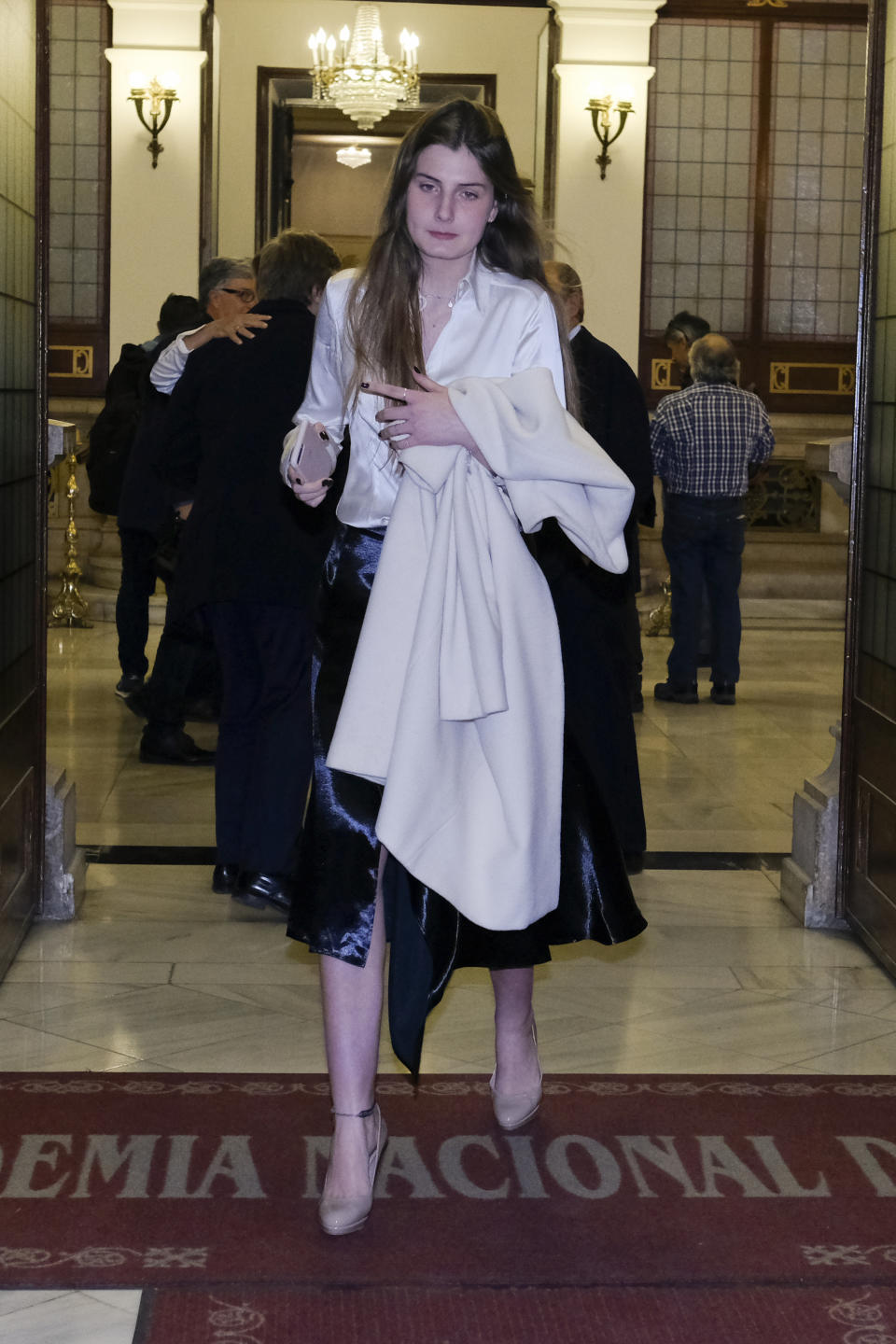 Amina Martinez de Irujo attends the event of Cayetano Martinez de Irujo receives the honor medal of the Royal National Academy of Medicine on February 26, 2020 in Madrid, Spain. (Photo by Oscar Gonzalez/NurPhoto via Getty Images)