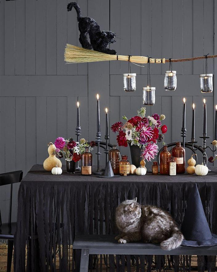 """<p>Hosting this year's (possibly virtual) <a href=""""https://www.womansday.com/food-recipes/food-drinks/g2575/halloween-dinner-ideas/"""" rel=""""nofollow noopener"""" target=""""_blank"""" data-ylk=""""slk:Halloween dinner"""" class=""""link rapid-noclick-resp"""">Halloween dinner</a> party? You're going to love this craft. </p><p><em>Get the tutorial from <a href=""""https://www.countryliving.com/diy-crafts/g1189/best-halloween-crafts-ever/?slide=14"""" rel=""""nofollow noopener"""" target=""""_blank"""" data-ylk=""""slk:Country Living."""" class=""""link rapid-noclick-resp"""">Country Living.</a></em></p>"""