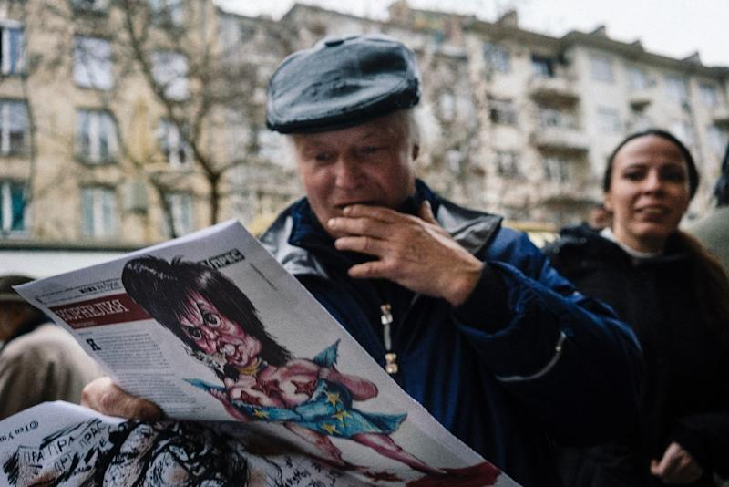 Prass-Press continues to appear on the internet and is distributed by hand by volunteers in the provinces. (AFP Photo/Dimitar DILKOFF)