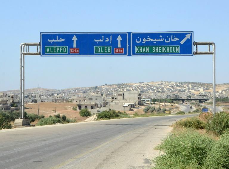 Regime forces have chipped away at the jihadist-dominated region of Idlib on the Turkish border, and recently retook the key town of Khan Sheikhun (AFP Photo/Maher AL MOUNES, )