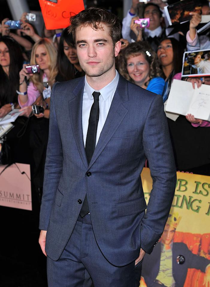 Robert Pattinson walks the red carpet at the premiere for 'The Twilight Saga: Breaking Dawn – Part 1' in Los Angeles, CA. (Photo by Vince Bucci/Yahoo!)