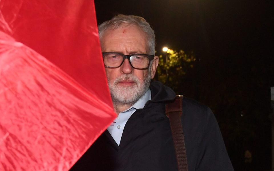 Mr Corbyn arrived home last night after the day that saw his lifelong membership of the Labour Party suspended - Victoria Jones/PA