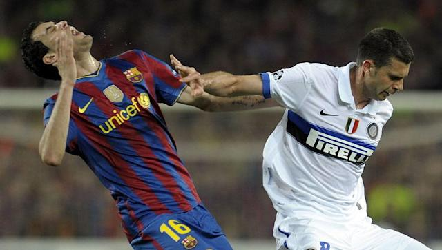"<p>Regardless of his vast ability as a <em>La Masia</em>-schooled player, Sergio Busquets has always been one to take advantage of situations in any way he can, and that was exactly what the Barcelona midfielder did during a semi-final clash with Inter Milan in 2010.</p> <br><p>After being swatted away by an already booked Thiago Motta in the crucial second leg, Busquets fell to the floor clutching his face and combined serious play-acting with glances over to the referee to make sure the incident and his reaction had been seen.</p> <br><p>""He always does it, I have seen it on TV and he is holding his face and then looking at the referee - it is terrible behaviour,"" Motta later said after receiving his marching orders, although it was Inter who had the last laugh after going on to lift the trophy in the final.</p>"