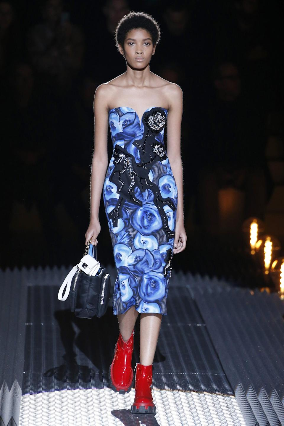<p>In Fall of 2018, Licett Morillo Montero became the first woman of color to close a Prada show. Montero's androgynous and powerful look is what brought her from working in a plastics factory and studying in the Dominican Republic, to the catwalks of Valentino and Saint Laurent.</p>