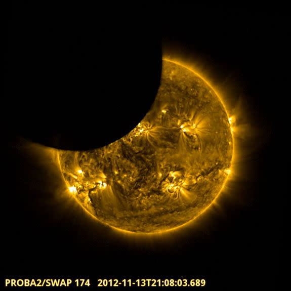 Satellite Sees Solar Eclipse from Space in Video