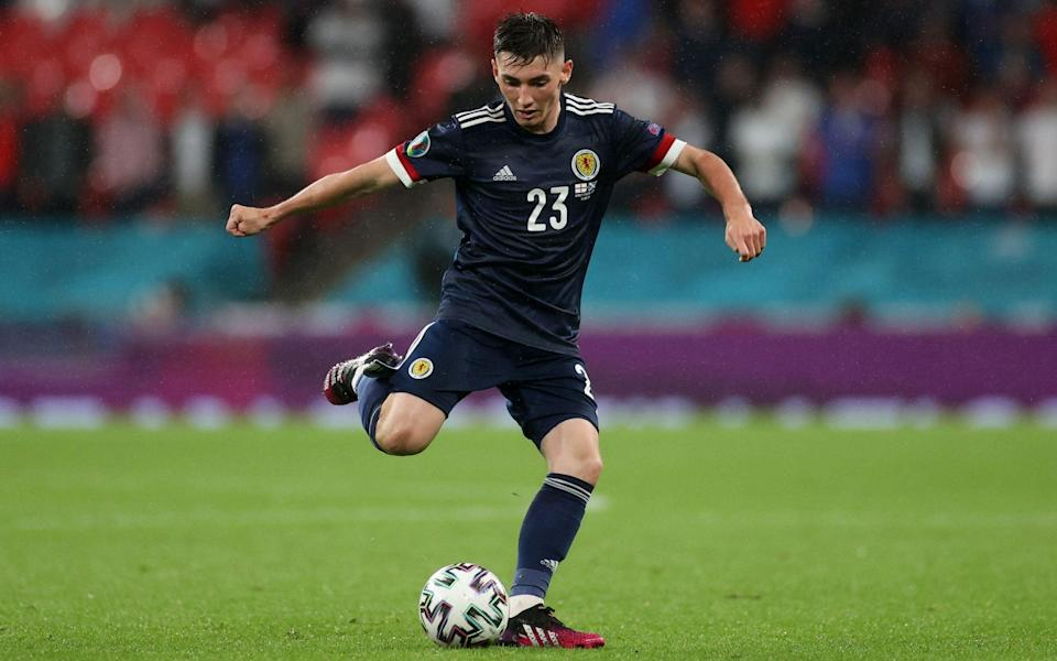 Billy Gilmour was Scotland's star man against England at Wembley - REUTERS