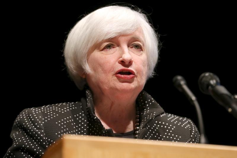 U.S. Federal Reserve Chair Janet Yellen speaks at the University of Massachusetts in Amherst