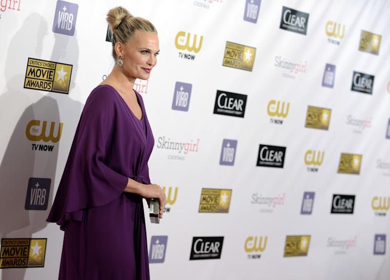 Molly Sims arrives at the 18th Annual Critics' Choice Movie Awards at the Barker Hangar on Thursday, Jan. 10, 2013, in Santa Monica, Calif. (Photo by Jordan Strauss/Invision/AP)