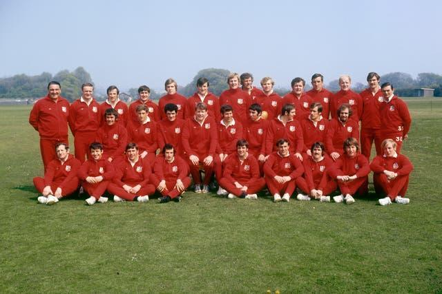 The Lions squad that toured New Zealand in 1971