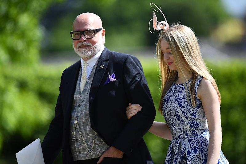 Gary Goldsmith, seen here in May, has been fined for punching his wife in the face. He is the uncle of Kate Middleton, the Duchess of Cambridge