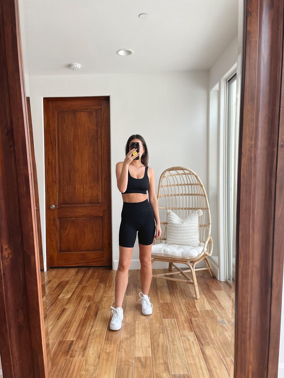<p>This <span>Beaufident Women's Workout Set</span> ($25) with biker shorts might be my absolute favorite. I love that the shorts are on the longer side, and they're so buttery soft, I've honestly been living in them. I'm already planning on buying this set in other colors ASAP.</p>