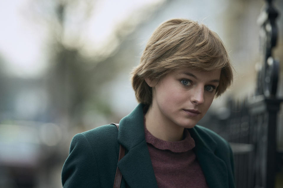 Emma Corrin as Diana in The Crown. (Netflix)