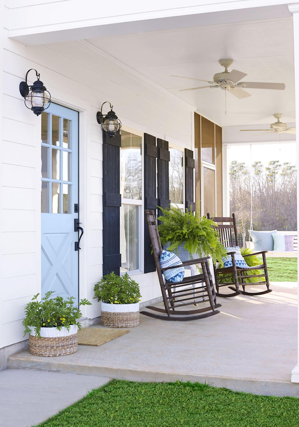 """<p>We're always looking for ways to make our outdoor spaces more comfortable and inviting. Sure, there are plenty of ways to keep busy in our own backyards, from tending our garden and weeding the flowerbeds to firing up the grill or even setting up an <a href=""""http://www.countryliving.com/entertaining/a32945750/outdoor-movie-theater/"""" rel=""""nofollow noopener"""" target=""""_blank"""" data-ylk=""""slk:outdoor movie theater"""" class=""""link rapid-noclick-resp"""">outdoor movie theater</a> for the kids. But once all of that work is done, you're ready to relax, and you'll be looking for a comfortable place to take a load off. When you're considering your options for your <a href=""""http://www.countryliving.com/gardening/garden-ideas/g1336/porch-and-patio-decorating-ideas/"""" rel=""""nofollow noopener"""" target=""""_blank"""" data-ylk=""""slk:porch and patio decorating ideas"""" class=""""link rapid-noclick-resp"""">porch and patio decorating ideas</a>, you're sure to think about <a href=""""http://www.countryliving.com/home-design/decorating-ideas/g28335824/best-adirondack-chair/"""" rel=""""nofollow noopener"""" target=""""_blank"""" data-ylk=""""slk:Adironack chairs"""" class=""""link rapid-noclick-resp"""">Adironack chairs</a>, old-school <a href=""""http://www.countryliving.com/shopping/g32700041/best-lawn-chairs/"""" rel=""""nofollow noopener"""" target=""""_blank"""" data-ylk=""""slk:lawn chairs"""" class=""""link rapid-noclick-resp"""">lawn chairs</a>, and even <a href=""""http://www.countryliving.com/home-design/decorating-ideas/g32815195/best-porch-swings/"""" rel=""""nofollow noopener"""" target=""""_blank"""" data-ylk=""""slk:porch swings"""" class=""""link rapid-noclick-resp"""">porch swings</a>. And there's a place for all of those cozy outdoor seating options. But when we imagine of a lazy summer afternoon, whiling away the day with a gold of ice-cold lemonade, there's nothing better than the comfort of a rocking chair. </p><p>We found the 10 best patio rocking chairs for 2021, from classics like the one your grandma had on her porch to more modern styles that will have the neighbors askin"""
