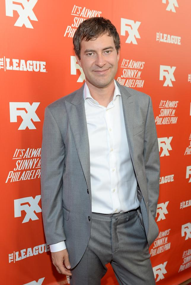 "HOLLYWOOD, CA - SEPTEMBER 03: Actor Mark Duplass attendds the premiere and launch party for FXX Network's ""It's Always Sunny In Philadelphia"" and ""The League"" at Lure on September 3, 2013 in Hollywood, California. (Photo by Michael Buckner/Getty Images)"