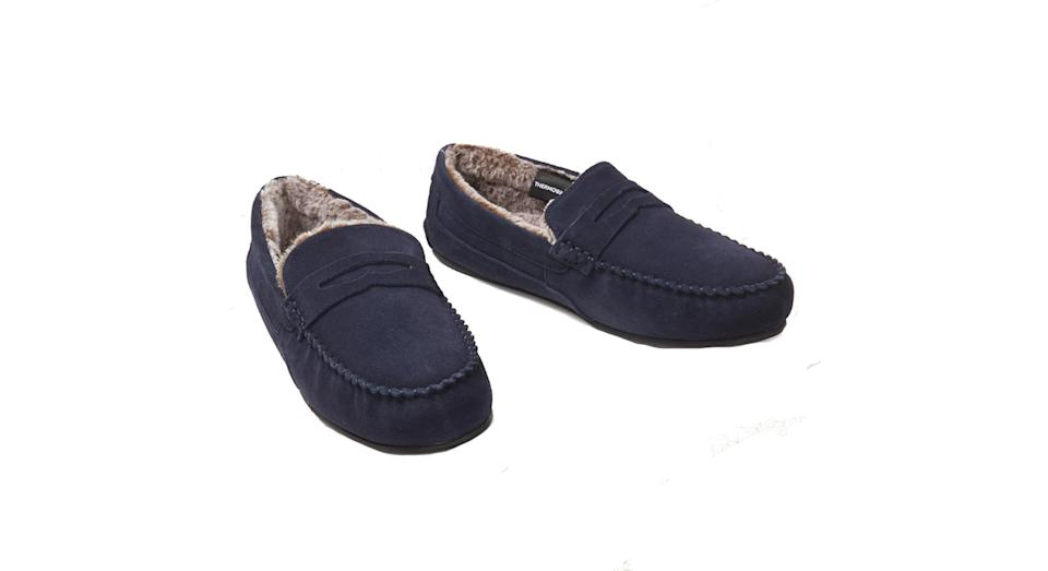 Suede Slippers with Freshfeet