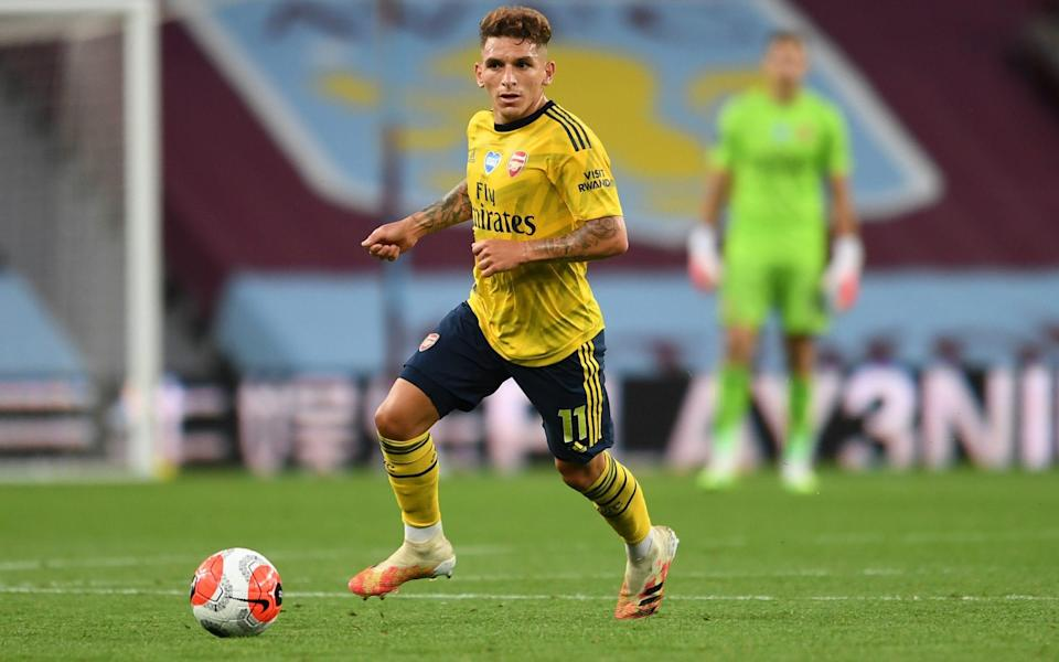 Lucas Torreira of Arsenal during the Premier League match between Aston Villa and Arsenal  - Getty Images