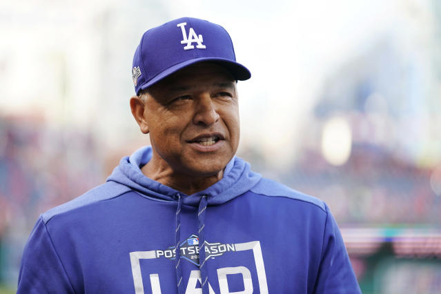 Dave Roberts, who was a student at UCLA during the 1992 Los Angeles riots, is now the manager of the Dodgers. (Photo by Patrick McDermott/Getty Images)