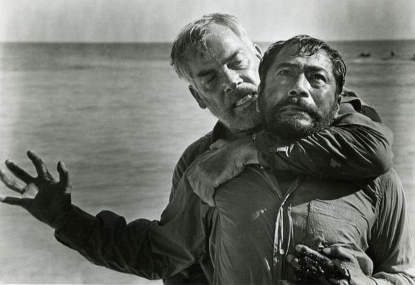 """Hell in the Pacific"" — Paring down Frank Sinatra's 1965 film ""None But the Brave"" to just two people, ""Hell in the Pacific"" is the tale of two soldiers — one American (played by Lee Marvin), one Japanese (played by Toshiro Mifune) —  who become stranded on a tiny Pacific island at the height of the Second World War. In order to survive, the two old soldiers must get past the fact that they are sworn enemies and work together. To simulate the real-life barriers that would have existed between the two men, none of the film's Japanese dialogue was dubbed or subtitled."