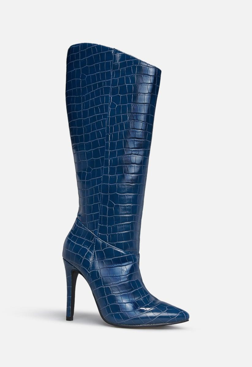 <p><span>Shoe Dazzle Night Is Young Asymmetrical Stiletto Boot</span> ($65)</p>