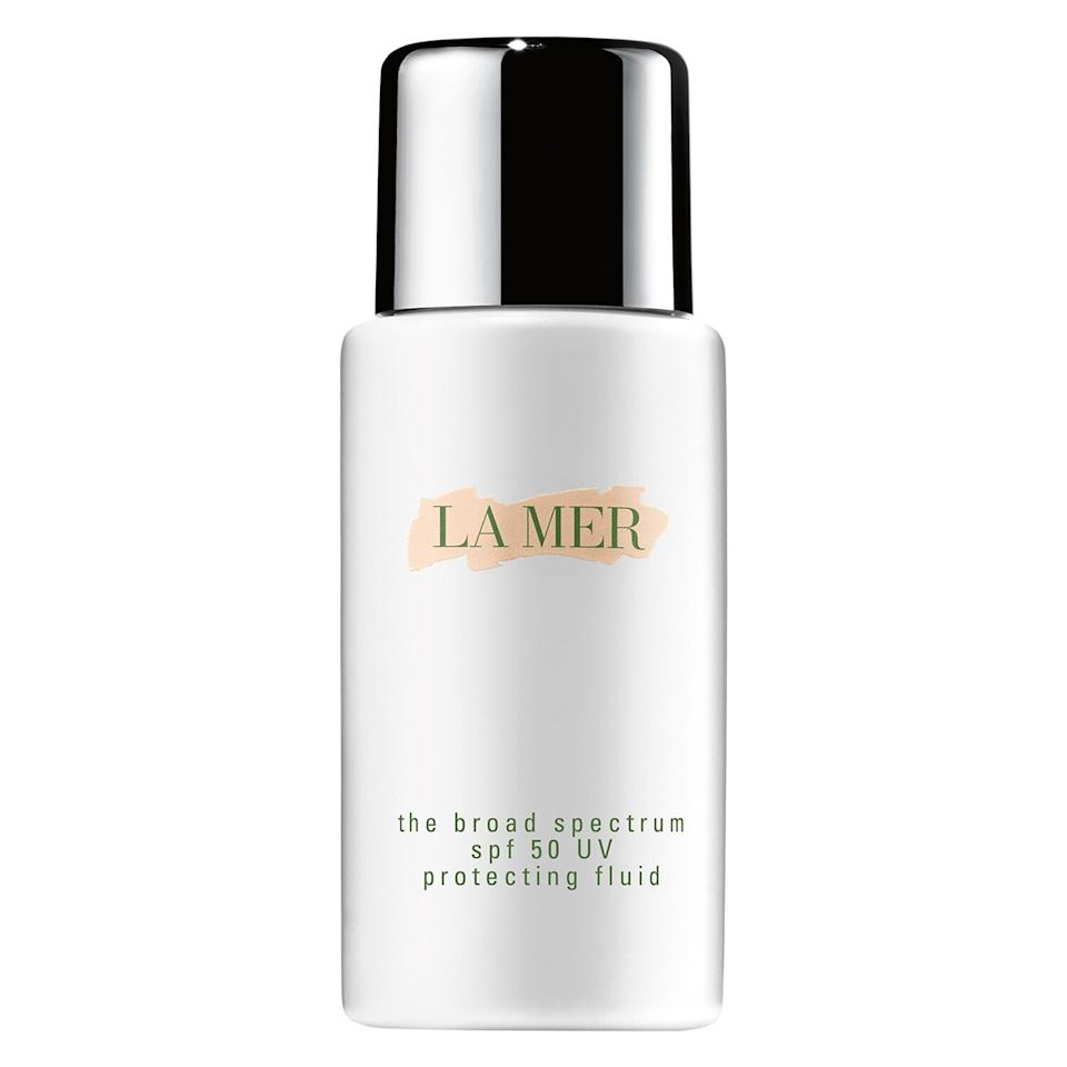 "<p>We all know how important it is to use sunscreen every single day to prevent sun damage and signs of aging. Opt for this one from cult-favorite skincare brand La Mer, which protects skin with broad spectrum SPF 50 and keeps it hydrated at the same time. </p> <p><strong>To buy</strong>: $71 (was $95), <a href=""https://click.linksynergy.com/deeplink?id=93xLBvPhAeE&mid=1237&murl=http%3A%2F%2Fshop.nordstrom.com%2Fs%2Fla-mer-the-broad-spectrum-spf-50-daily-uv-protecting-fluid-sunscreen%2F3668901%2Ffull&u1=RS%2CThe9BestAnti-AgingBeautyProductsonSaleDuringNordstrom%2527sSurpriseSale%2Cjmastrop%2CMAK%2CIMA%2C697355%2C202003%2CI"" target=""_blank"">nordstrom.com</a>.</p>"