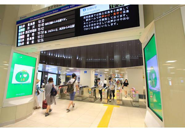 ↑The Seibu ticket gates on the ground floor