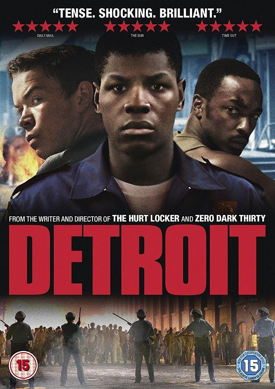 """<p><a class=""""link rapid-noclick-resp"""" href=""""https://go.redirectingat.com?id=74968X1596630&url=https%3A%2F%2Fwww.hulu.com%2Fmovie%2Fdetroit-3f4dbeaf-8976-45b1-993b-2b3626216324&sref=https%3A%2F%2Fwww.womansday.com%2Flife%2Fentertainment%2Fg34963316%2Fblack-history-movies%2F"""" rel=""""nofollow noopener"""" target=""""_blank"""" data-ylk=""""slk:STREAM NOW"""">STREAM NOW</a></p><p>Based on Detroit's 1967 12th Street Riot, this biographic drama follows the events of the five-day riot that consumed the city and claimed several lives, mainly due to confrontations between Detroit's Black residents and the Detroit Police Department.</p>"""
