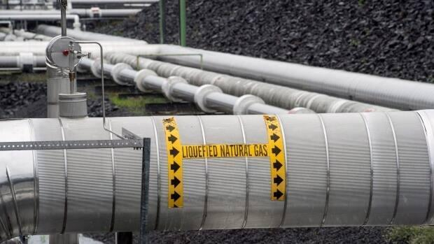 The $10-billion LNG project would require a section of highway to be moved. (The Canadian Press - image credit)