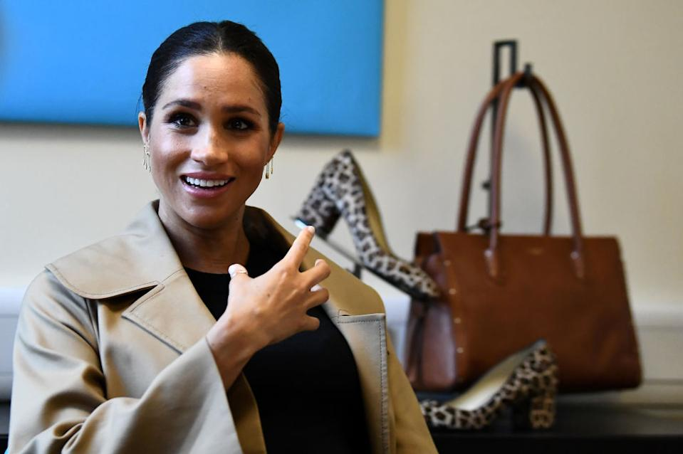 The Duchess of Sussex will launch her Smart Works fashion line on September 12 [Photo: Getty]