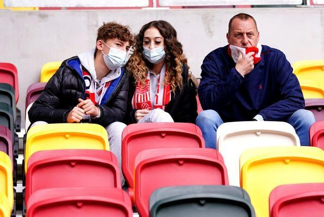 Face coverings may be a much less common sight at football grounds next season