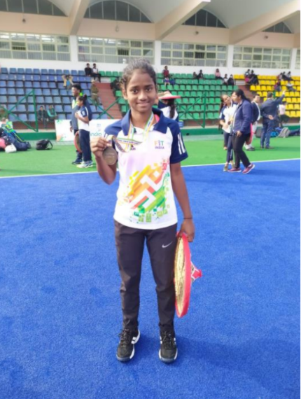 Kajal Atpadkar is a national-level field hockey player