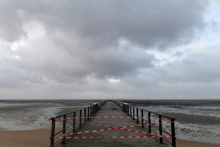 Across southwestern France, violent winds left 110,000 households without electricity (AFP Photo/NICOLAS TUCAT)