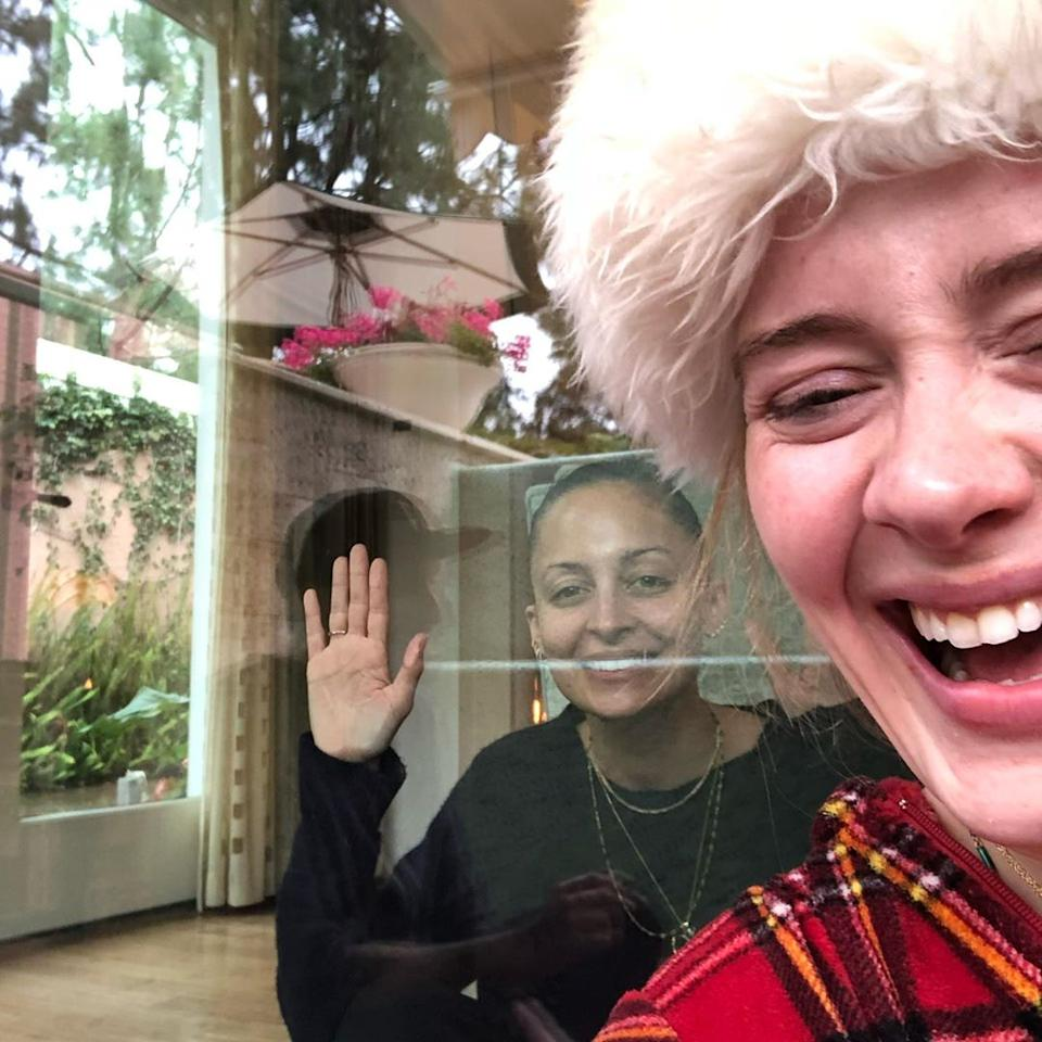 Adele and Nicole Richie at Christmas