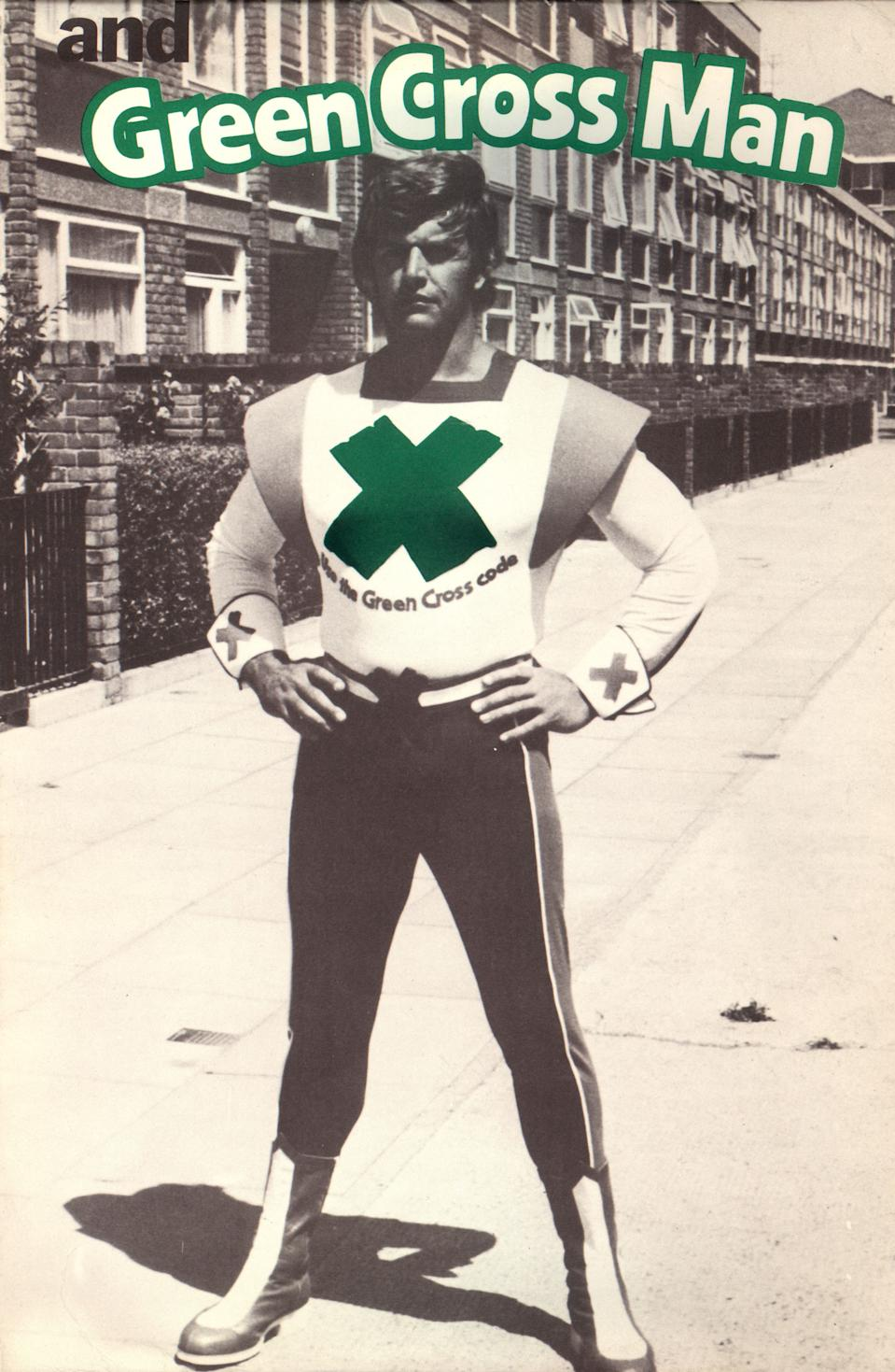 Dave Prowse as the Green Cross Man
