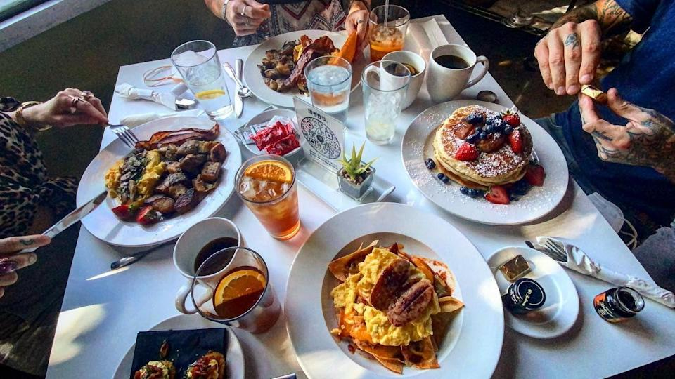 """<p><strong><a href=""""https://eatdtlv.chefnatalieyoung.com/"""" rel=""""nofollow noopener"""" target=""""_blank"""" data-ylk=""""slk:Eat"""" class=""""link rapid-noclick-resp"""">Eat</a>., Las Vegas</strong></p><p>There's some serious competition when it comes to restaurants in Las Vegas, but Eat. stands out as one of the best. Created by Chef Natalie Young, this breakfast and brunch spot has all the comfort food you need after a long night out.</p>"""