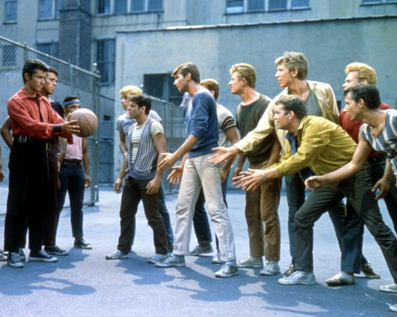 Actors George Chakiris, Tony Mordente, Tucker Smith and Russ Tamblyn in a scene from the musical film 'West Side Story', 1961. (Photo by Silver Screen Collection/Getty Images)