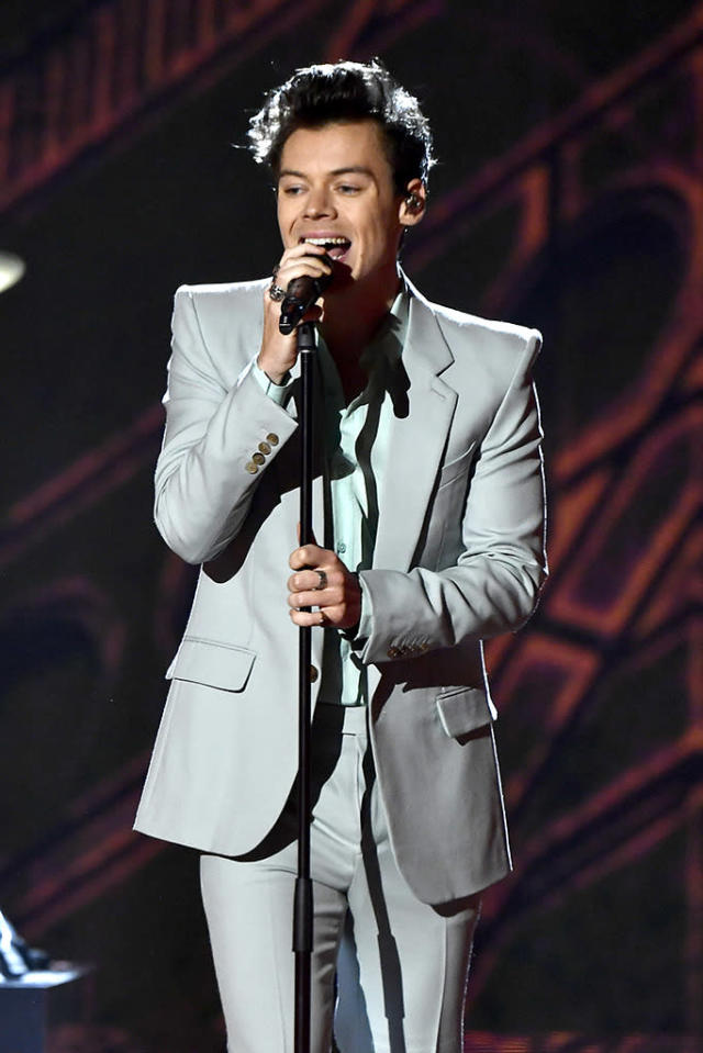 "<p>The former One Direction star, who had a smash hit with the critically acclaimed ""Sign of the Times,"" was shut out completely — passed over for noms for Record, Album and Song of the Year, and even for Best Rock Album. (Photo: Frazer Harrison/Getty Images for Victoria's Secret) </p>"